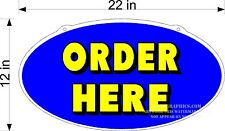 Single Sided Diecut Plexiglass Sign Order Here New Blue Yellow