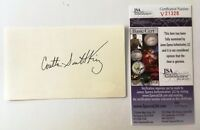 Coretta Scott King Signed Autographed 3x5 Card JSA Certified Martin Luther Wife