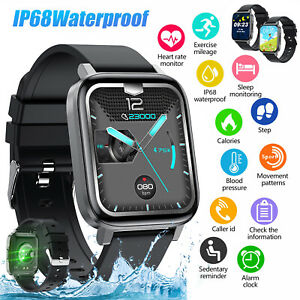 Waterproof Smart Touch Watch Women Men Heart Rate Tracker For iOS Android Phone