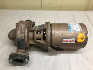 Armstrong Cast Iron Bronze Fitted Circulator Pump 3 Phase 1/2 HP Motor H-53-3 AB