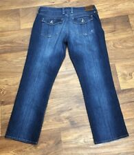 Lucky Brand Size 8/29 Womens Sweet'N Crop Jeans Whiskering Dark Wash Straight