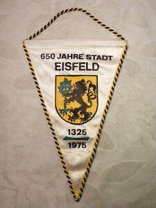 Age Pennant GDR 650 Years City Eisfeld Thuringia 1325 - 1975