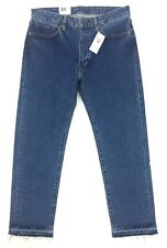 NEW Levi's Made And Crafted Size 32 34x28 Rail Straight Cropped Blue Denim Jeans