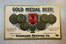 New listing Stegmaier'S Gold Medal Beer Label / Irtp / Early 1930'S