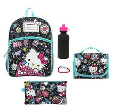 Hello Kitty Backpack For Girls Elementary School Set Lunch Bag Book Tote Shoulde
