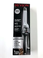 "Revlon RV051 1"" Perfect Heat Long Lasting Curls Ceramic Curling Iron (New n Box)"