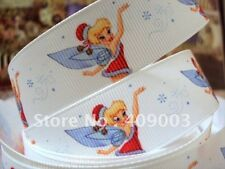 1 x metre TINKERBELL FAIRY 1inch Grosgrain Ribbon Craft Christmas Xmas