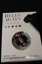 NEW Red Olloclip 3-in-1 Lens for iPhone 4 & 4S w/ Fisheye Macro Wide by Lincoln