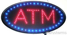 Animated Oval Led Neon Light Atm Open Sign Super Size Atm