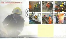 GB-Primer Día Cubierta Fdc-Commems -2009 - Fire & Rescue-PMK TH