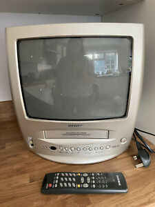 """Samsung TI-14N3 VCR VHS Combi CRT 14"""" Retro Video Gaming Television TV Working"""