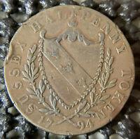 1794 ½ Penny Kent - Lamberhurst / T. Foster (DH# 33) Hops Conder Sussex Token!!
