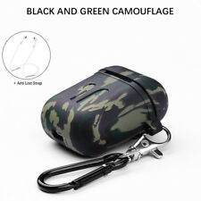 For Apple AirPods Earphones Silicone Cover Case Protective Camouflage Cover Skin