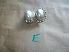 Vtg 40's-70's CLIP EARRINGS Choice of TWO Pairs  Variety