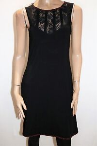 BLACK HYPE Brand Black Lace Insert Sleeveless Dress Size M/L BNWT #RB32