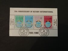 Zimbabwe Stamps MS595 FU Issued 1980 75th Anniversary of Rotary International.