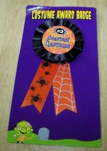 """Scariest Costume Award Badge Halloween Party Button Pin Rosette Prize 5.5"""""""