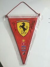 Michael Schumacher & Rubens Barrichello Hand Signed 5X7 Inches Ferrari F1 Banner