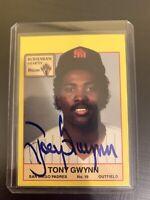 1987 BOHEMIAN HEARTH BREAD TONY GWYNN SIGNED AUTOGRAPHED AUTO SAN DIEGO PADRES