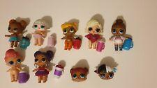 Lol rare suprise dolls& bottles bundle glamour queen,purple queen,pointe winter