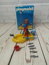 Vintage Playmobil system set 3574 fishing boat, incomplete, boxed 1970's