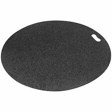 Black Round Grill Pad Out Door Splatter Mat Patio Deck Floor Spill Protector New