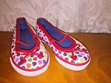 CIRCO Polka Dot RAINBOW HEARTS Ballet Flats Mary Janes Girls Toddlers Shoes Sz 6