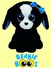 """Ty® 9"""" Tracey Beanie Boo's® Medium Black & White Dog FROM OUR DOG & PUPPY STOCK"""