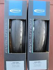 SCHWALBE PRO ONE MICROSKIN TUBELESS ROAD BIKE TYRES PAIR 700C 25MM CLINCHER