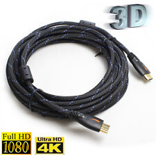 25FT Full 1080P HDMI w/Ferrite Cores V1.4 AV Cable Net Ethernet 24K Gold Plated