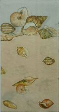 SEA SHELLS NAUTICAL MARINE 2 single HOSTESS paper  napkins for decoupage 3-ply