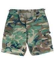 US Bermuda Prewash Shorts Army Woodland Camouflage Short Small