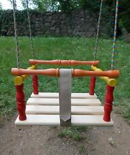 Wooden Swing Chair Children Seat with Safety Strap