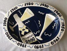 """CLAY ART """"MILLENNIUM"""" 2000 Platter Appetizer Plate 18"""" Large Y2K"""