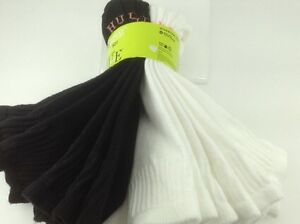 Women's HUE Brand White Black 81% COTTON Quarter Crew Socks - 6 Pairs - $21 MSRP