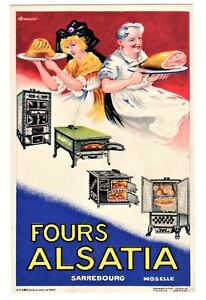 POSTCARD FRENCH ADVERTISING ALSATIA OVENS (SB)