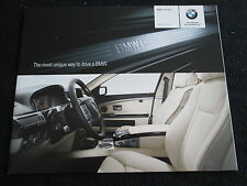 2007 BMW 7 Series E65 E66 INDIVIDUAL Colors foldt Catalog 750i Li 760Li Brochure
