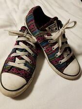 Converse All Star Kid's Size 2 - Aztec Pattern Pink, Blue, Green Purple