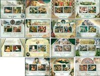 Renaissance Art Paintings Da Vinci Durer etc collection 15 MNH stamp sheets set