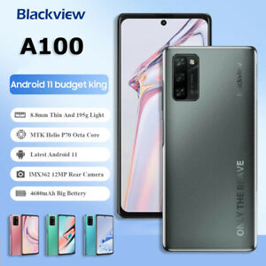 "Original 6.67"" Blackview A100 Helio P70 Android 11 Smartphone 6GB+128GB 4680mAh"