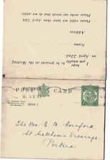 1911 H&B Cp61 Used to Portsea Kgv 1/2d Green L11 Die 1 Ps Reply Pc Lovely Reduce