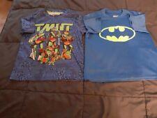 Boys Xs 4 5 short sleeve shirts Batman Teenage Mutant Ninja Turtle polyester Guc