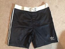 VTG 90s Adidas Mens Large Black Shiny Nylon Basketball Shorts Glanz