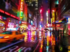 Art print poster foto Cityscape DOWNTOWN New York la sfocatura da movimento lfmp0702