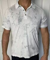 Lululemon Men Size XL Metal Vent Tech Polo White Gray WHT/WHT/CAST XStatic