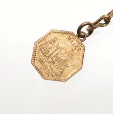 U.S.S. Maine - Old Glory / California Gold Type Charm Token Pendant Estate Find