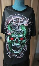 Black Dragon Skull Crew Neck Shirt  - XXL