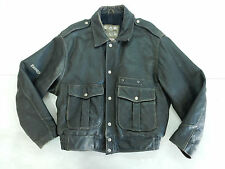 ENERGIE VINTAGE JACKET GIACCA PELLE LEATHER AVIATOR MOTORCYCLE
