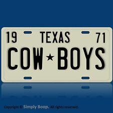 Dallas Cowboys Football Team TX 1971 Prop Replica Aluminum License Plate Tag NEW