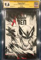 SHELBY ROBERTSON ORIGINAL DOUBLE Sketch Art CGC 9.6 Signed Venom Wolverine X-MEN